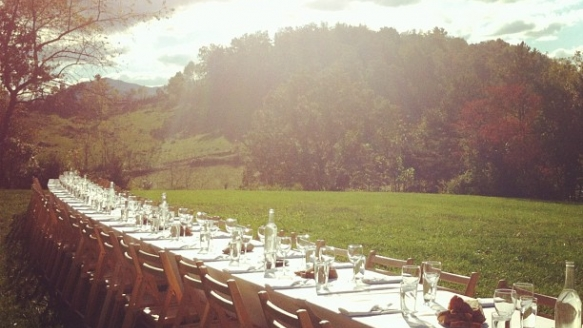 Chef Tim Peters joins Outstanding in the Field October 2, 2012 in Asheville, N.C.