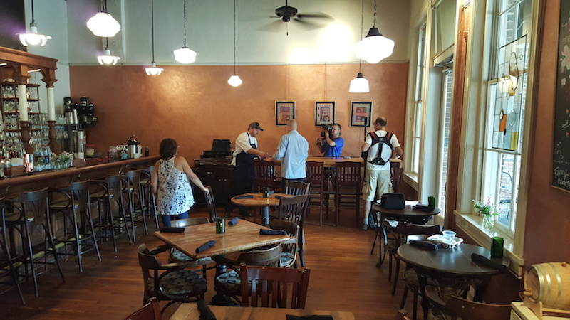 Jeni and Olly's Deep South Food Adventures tv show shoot at Motor Supply Co. Bistro on Columbia, SC