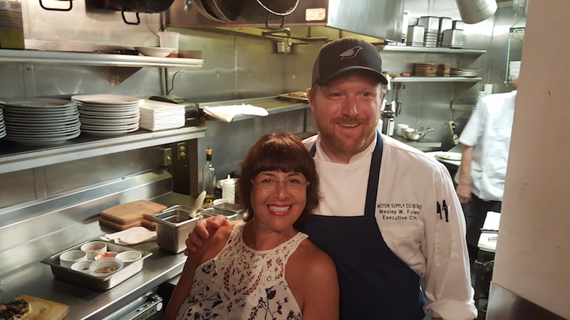 Jeni Barnett and Executive Chef Wes Fulmer at Motor Supply Co. Bistro in Columbia, SC